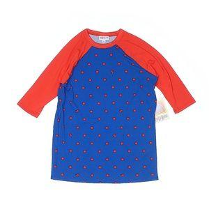 Lularoe Blue & Orange Polkadot Short Sleeve Top